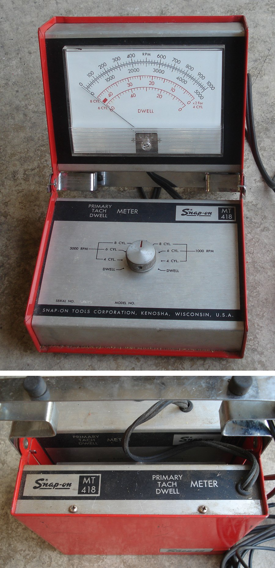 Snap On Multimeter : Vintage snap on mt automotive dwell tach meter ebay