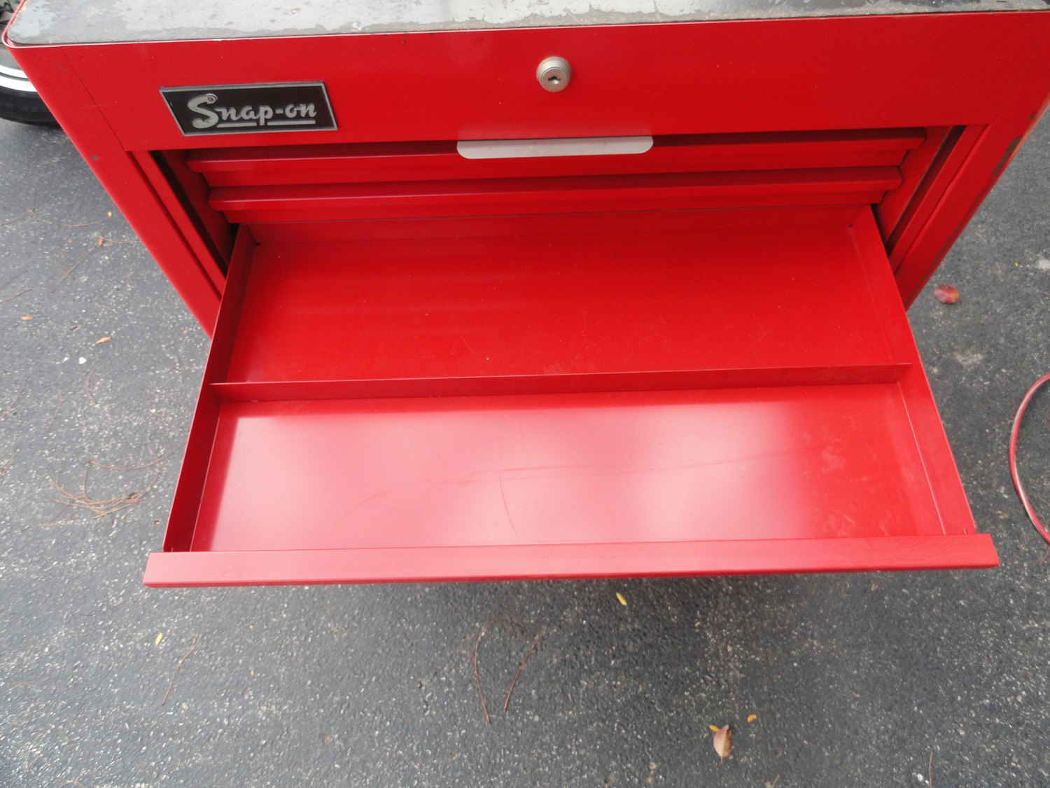 Mechanics 8 Drawer Tool Box Chest Roller Cabinet: Vtg Snap On KRA-300F Red 8 Drawer Tambour Door Rolling